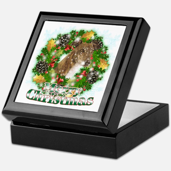 Merry Christmas Greyhound Keepsake Box