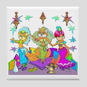 BellyKittens_three_Apron Tile Coaster