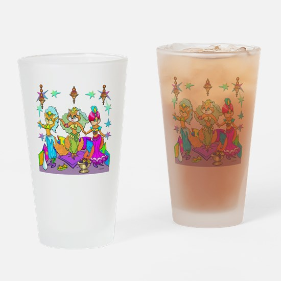BellyKittens_three_Apron Drinking Glass