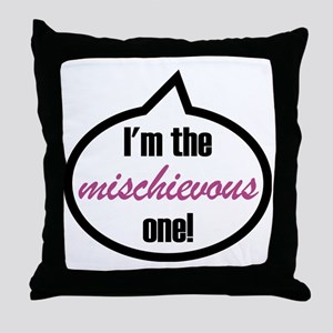 Im_the_mischievous Throw Pillow