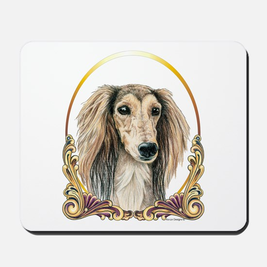 Saluki Christmas/Holiday Mousepad