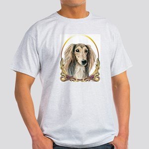 Saluki Christmas/Holiday Ash Grey T-Shirt