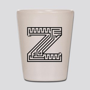 maze_letter_z_for_white Shot Glass
