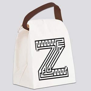 maze_letter_z_for_white Canvas Lunch Bag