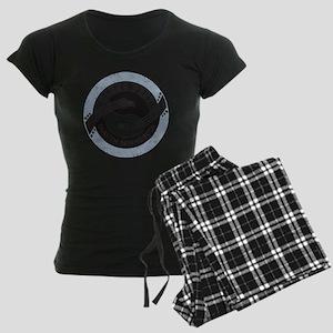 YinYangGuitarsBLUESfest4Lt Women's Dark Pajamas