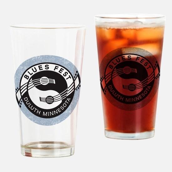 YinYangGuitarsBLUESfest4Lt Drinking Glass