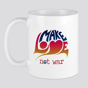 Make Love Not War 60s Mug