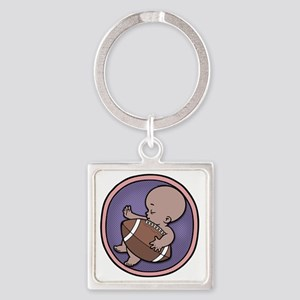 football-wombie-DS-T Square Keychain