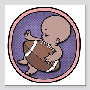 "football-wombie-DS-T Square Car Magnet 3"" x 3"""