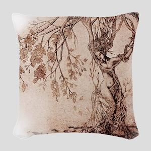 Treeshifter tshirt design Woven Throw Pillow