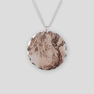 Treeshifter tshirt design Necklace Circle Charm