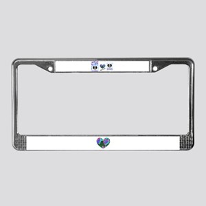 LOVE IS IN THE AIR License Plate Frame