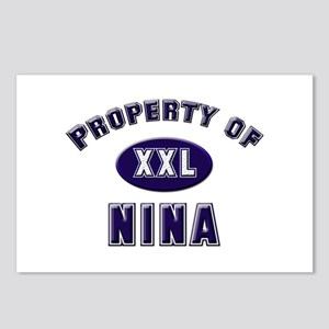 Property of nina Postcards (Package of 8)