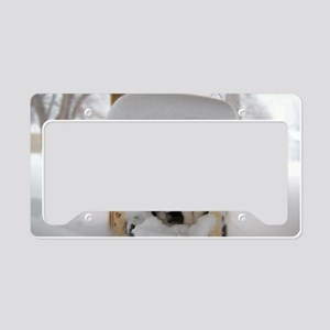 Snow Kittens #1 License Plate Holder
