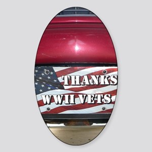 WW2.34x3.2 Sticker (Oval)