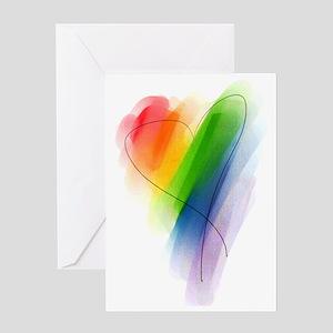 watercolor-rainbow-heart_tr Greeting Card