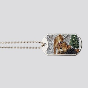 Let it snow Dog Tags
