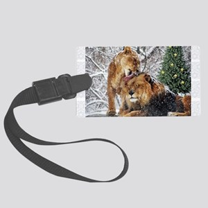 Let it snow Large Luggage Tag