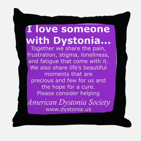 DystoniaTShirt7 Throw Pillow