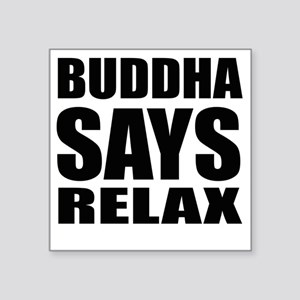 "buddha copy Square Sticker 3"" x 3"""