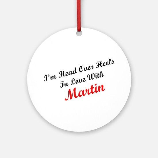 In Love with Martin Ornament (Round)
