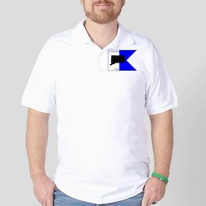 Connecticut Alpha Flag Golf Shirt