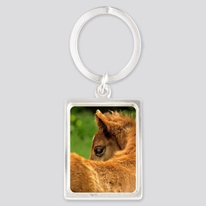 fuzzybaby_card Portrait Keychain