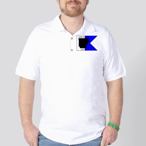 Arkansas Alpha Flag Golf Shirt