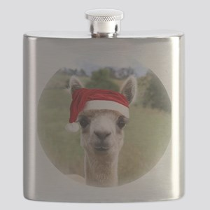 Sheba Alpaca at Christmas Flask
