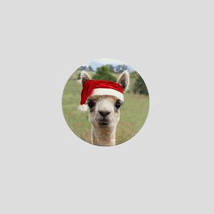 Sheba Alpaca at Christmas Mini Button