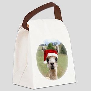 Sheba Alpaca at Christmas Canvas Lunch Bag