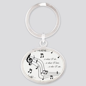 music is me no splatter Oval Keychain