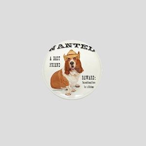 Basset Hound Wanted Best Friend Mini Button