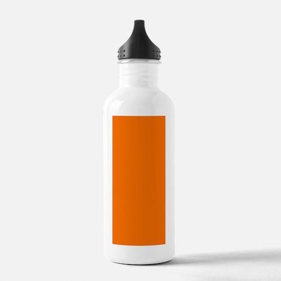 Orange Halloween Fall  Water Bottle