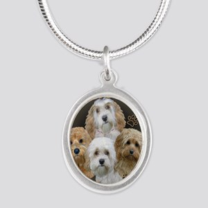 Cockapoo Cant Have Just One Silver Oval Necklace