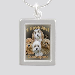 Cockapoo Cant Have Just  Silver Portrait Necklace