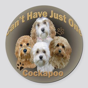 Cockapoo Cant Have Just One Round Car Magnet