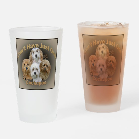 Cockapoo Cant Have Just One Drinking Glass