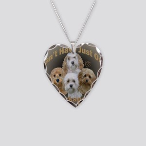 Cockapoo Cant Have Just One Necklace Heart Charm