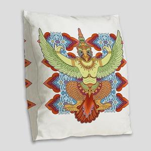 Garuda Burlap Throw Pillow