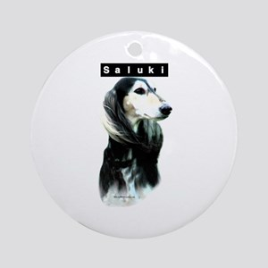 Saluki Head Ornament (Round)