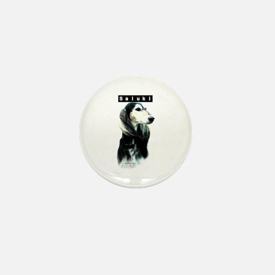 Saluki Head Mini Button