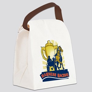 hHarness horse race racing champi Canvas Lunch Bag