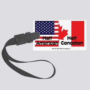 american-canadian-flag Large Luggage Tag
