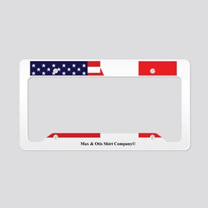 american-canadian-flag License Plate Holder