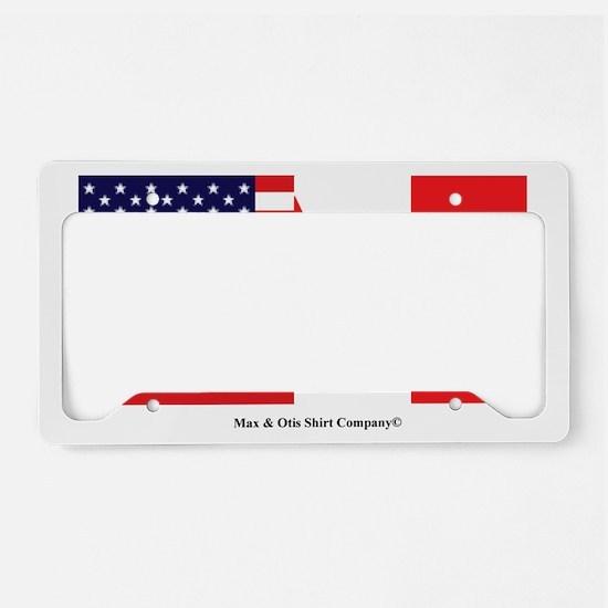 american-canadian-flag License Plate Holder