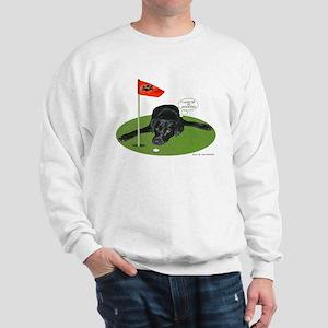 Black Lab Golfer Sweatshirt