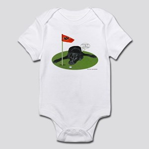 Black Lab Golfer Infant Bodysuit
