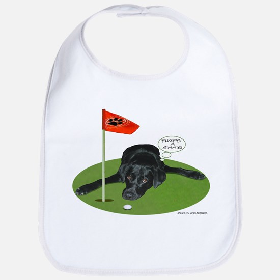 Black Lab Golfer Bib
