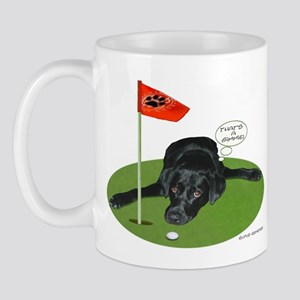 Black Lab Golfer Mug